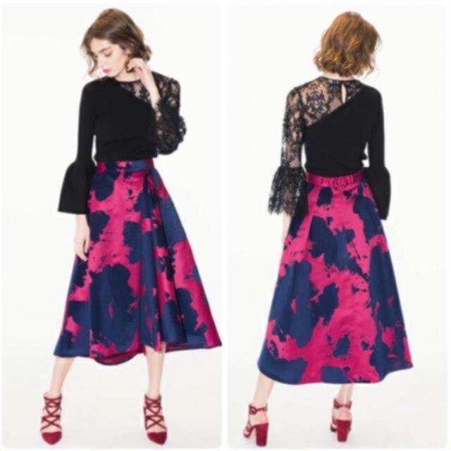 FRAY I.D(フレイアイディー)のフレイアイディー 花柄スカート 石原さとみ チェスティ オブリ ミラオーウェン レディースのスカート(ロングスカート)の商品写真