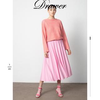 Drawer - ドゥロワー  Drawer 18Gニットプリーツスカート