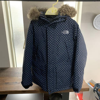 THE NORTH FACE - size120 子供用ダウンパーカー THE NORTH FACE 紺色ドット柄