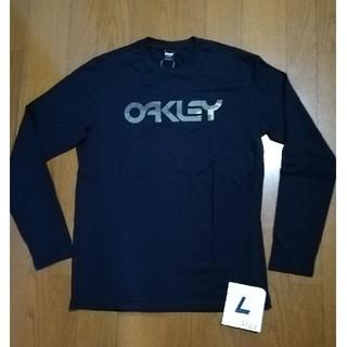 オークリー(Oakley)のOAKLEY サイズL (US M)迷彩ロゴロンT 黒L 未使用タグ付(Tシャツ/カットソー(七分/長袖))