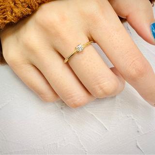 Eカラー VS2 クッションカット ダイヤモンド リング(リング(指輪))