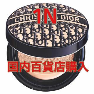 クリスチャンディオール(Christian Dior)のディオール 限定 ロゴマニア クッションファンデ 限定  1N 新品未使用(ファンデーション)