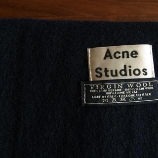 アクネ(ACNE)の【クリーニング済】Acne studios ネイビー大判ストール ウール100%(マフラー/ショール)