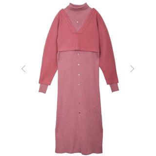 Ameri VINTAGE - LAYERED KNIT DRESS