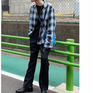 サンシー(SUNSEA)の即完売 SUNSEA shadow check gigolo shirt(シャツ)
