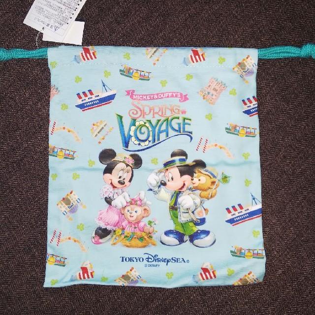 Disney(ディズニー)の新品未使用タグ付き スプリングヴォヤッジ 巾着 エンタメ/ホビーのおもちゃ/ぬいぐるみ(キャラクターグッズ)の商品写真