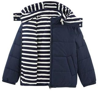 プチバトー(PETIT BATEAU)のプチバトー  フード付きパフジャケット(ジャケット/上着)