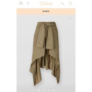 クロエ(Chloe)の定価20万超 新作 chloe  スカート 2019aw クロエ チェック (ひざ丈スカート)