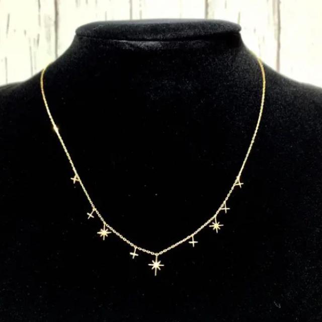 STAR JEWELRY(スタージュエリー)の【美品】ダイヤモンド1ピース留めネックレス レディースのアクセサリー(ネックレス)の商品写真