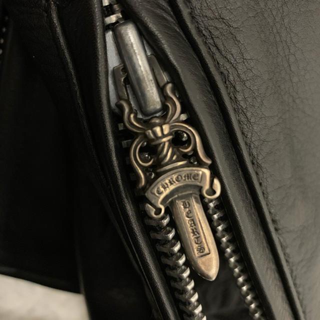 Chrome Hearts(クロムハーツ)のクロムハーツ レザーライダースジャケット        ベーシックモト メンズのジャケット/アウター(ライダースジャケット)の商品写真