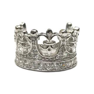 送料無料☆クラウン(王冠) リング(シルバー925)シルバー磨きクロス付き(リング(指輪))