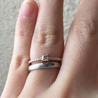 ピンクダイヤ リング 0.215ct 天然 ピンクダイヤモンド エタニティ(リング(指輪))