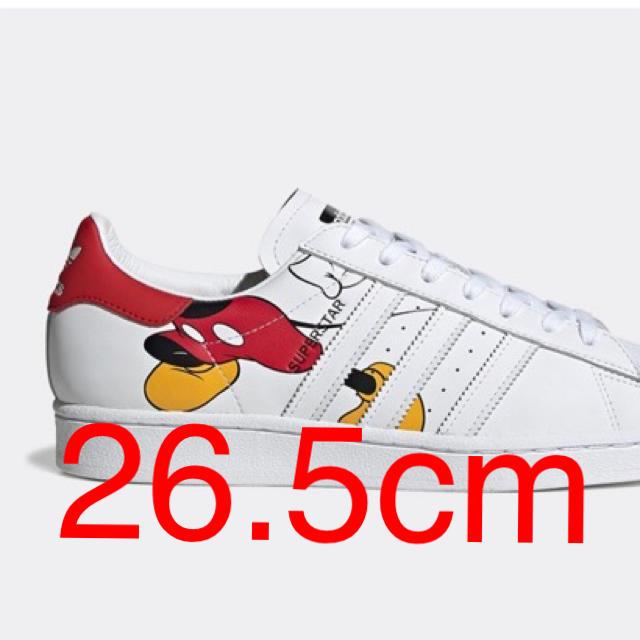 adidas(アディダス)のadidas × Disney Mickey Superstar  26.5cm メンズの靴/シューズ(スニーカー)の商品写真