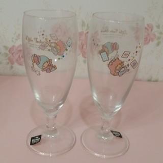 リトルツインスターズ(リトルツインスターズ)のキキララ グラス スワロフスキー 2点セット 本物(グラス/カップ)