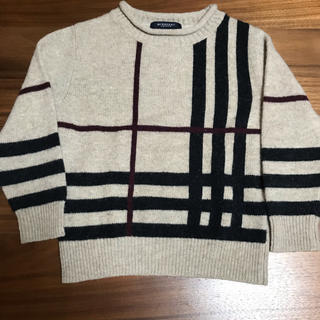 BURBERRY - Burberry バーバーリー キッズ セーター ノバチェック 110size