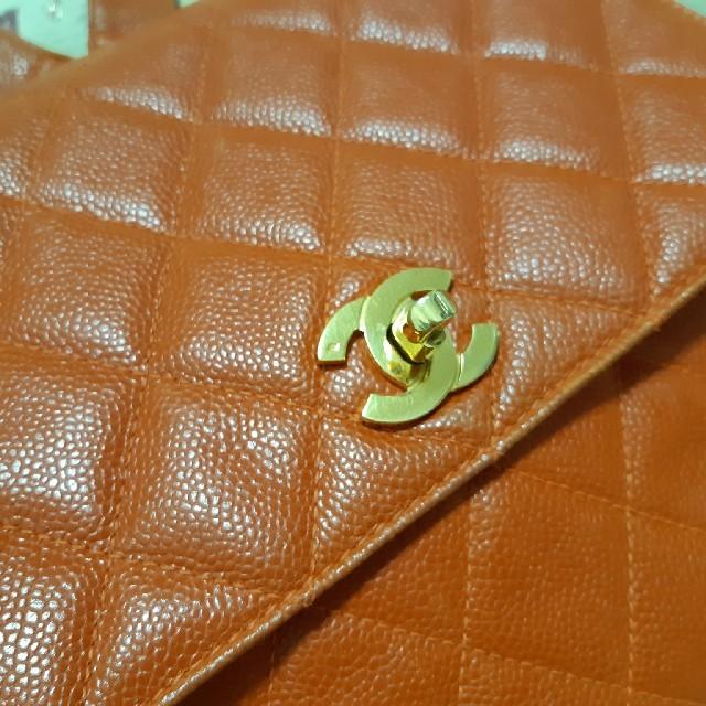 CHANEL(シャネル)のCHANEL/リュック CCマーク2個付きオレンジ レディースのバッグ(リュック/バックパック)の商品写真
