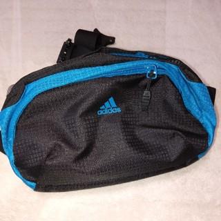 adidas - adidas ウエストポーチ ボディバッグ ヒップバッグ ブルー ×ブラック