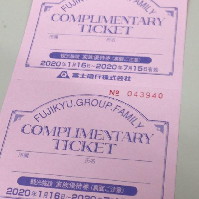 富士急ハイランド フリーパス他 割引チケット ペア2枚 チケットの施設利用券(遊園地/テーマパーク)の商品写真