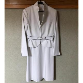 美品 ETAGE フォーマルワンピーススーツ  ドット柄 9号 入学式 卒業式(スーツ)