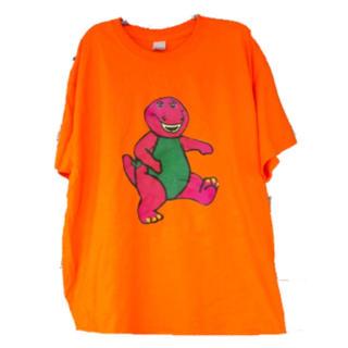 バーニー&フレンズ★ Tシャツ ダボっとサイズ 蛍光っぽいオレンジ(Tシャツ(半袖/袖なし))