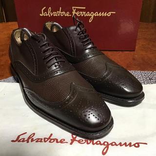 Salvatore Ferragamo - サルバトーレフェラガモ メンズシューズ トラメッザ ウイングチップ イタリア製