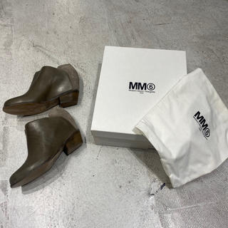 エムエムシックス(MM6)の新品 MM6 エムエムシックス マルジェラ ショート ブーツ サイズ 39(ブーツ)