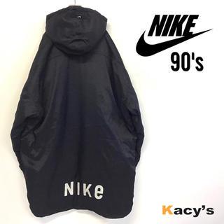 ナイキ(NIKE)の美品 90's NIKE ナイロンモッズコート 刺繍ロゴ メンズXL大きいサイズ(モッズコート)