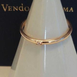 Vendome Aoyama - ヴァンドーム青山 K10 ダイヤモンド リング 11号 ゴールド プレーン 美品
