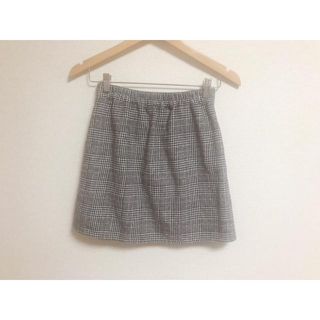 ミニスカート 千鳥格子柄 レディースのスカート(ミニスカート)の商品写真