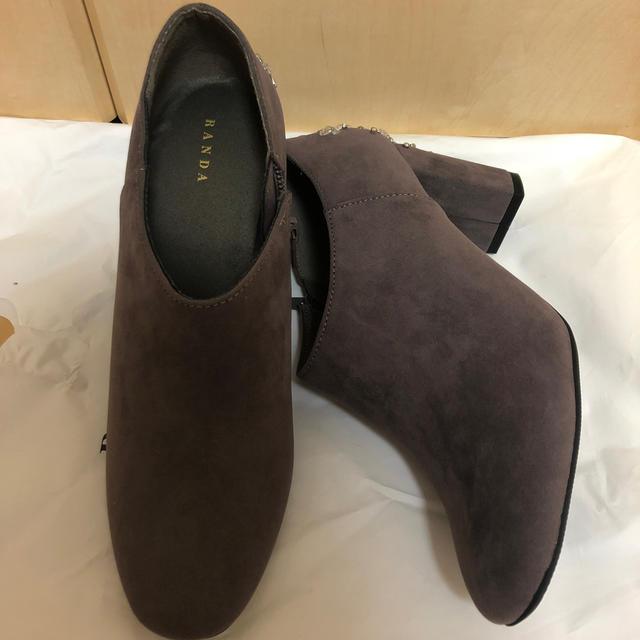 RANDA(ランダ)のランダ ビジュー付きブーツ レディースの靴/シューズ(ブーティ)の商品写真