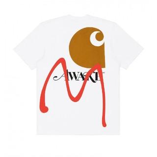 アウェイク(AWAKE)のAwake NY / Carhartt WIP   ホワイト M(Tシャツ/カットソー(半袖/袖なし))