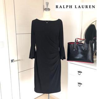 Ralph Lauren - 美品Ralph Lauren美ラインジャージータイトワンピースブラックフォーマル