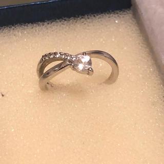 クミキョク(kumikyoku(組曲))の組曲  k10ホワイトゴールド  ハート  ダイヤモンドリング  (リング(指輪))