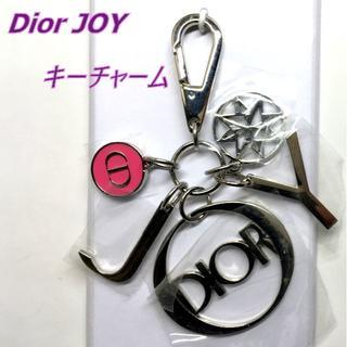 Dior - Dior JOY シルバー系 × ピンク ロゴ付 キーチャーム バッグチャーム