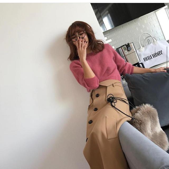 FRAY I.D(フレイアイディー)の美品!BIRTHDAY BASH ボンディングラップスカート レディースのスカート(ロングスカート)の商品写真