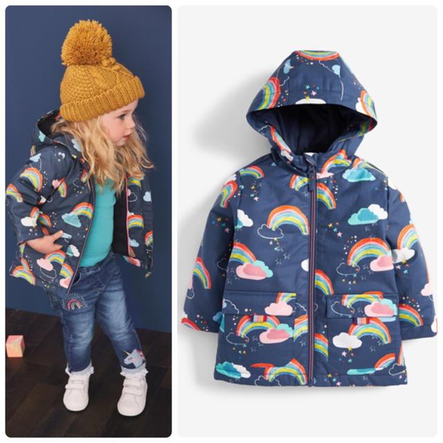 NEXT(ネクスト)の新品❣️ネクスト スプリングコート レインボー キッズ/ベビー/マタニティのベビー服(~85cm)(ジャケット/コート)の商品写真