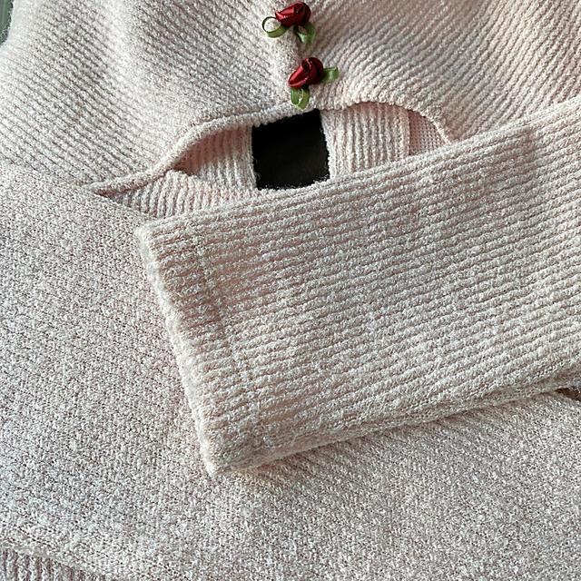 EATME(イートミー)のEATME フリル 薔薇 カットソー レディースのトップス(カットソー(長袖/七分))の商品写真