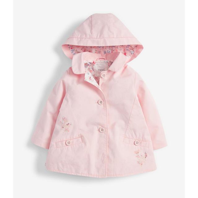 NEXT(ネクスト)の新品❣️ネクスト スプリングコート ピンク 小花柄 キッズ/ベビー/マタニティのベビー服(~85cm)(ジャケット/コート)の商品写真