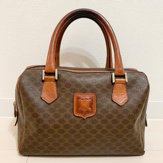celine(セリーヌ)のセリーヌ◆マカダム柄◆ミニボストンバッグ レディースのバッグ(ハンドバッグ)の商品写真