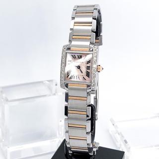 Cartier - 【仕上済】カルティエ フランセーズ ピンク コンビ ダイヤ レディース 腕時計