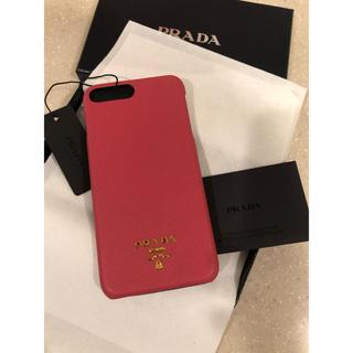 PRADA - 新品 プラダ サフィアーノ iPhone7 Plus ケース ピンク