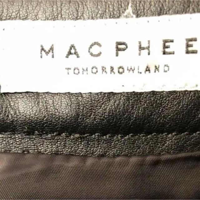 MACPHEE(マカフィー)のタイトスカート 黒 レザー レディースのスカート(ミニスカート)の商品写真
