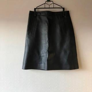 マカフィー(MACPHEE)のタイトスカート 黒 レザー(ミニスカート)