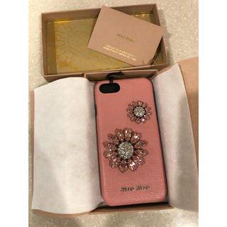 miumiu - 新品 ミュウミュウ ビジュー スマホケース iPhone6 7 8
