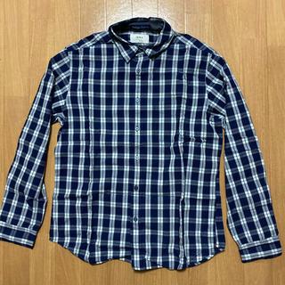 イッカ(ikka)のikkaメンズ Yシャツ L チェック柄(シャツ)