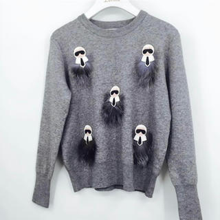 FENDI - 大人気 ニット リアルファー付きデザインセーター