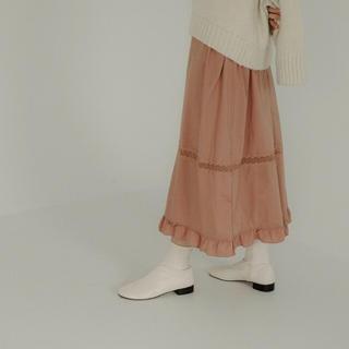 オオトロ(OHOTORO)のOHOTORO ego boots (ivory)(ブーツ)
