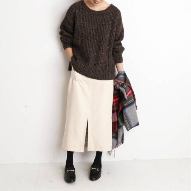 IENA SLOBE(イエナスローブ)のSLOBE IENA スローブイエナ   スエードライクタイトスカート 2019 レディースのスカート(ロングスカート)の商品写真