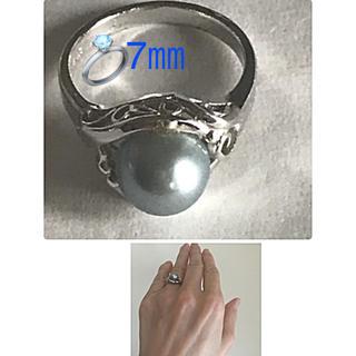 ビンテージ 7㎜ グレーパール リング✨silver✨(リング(指輪))