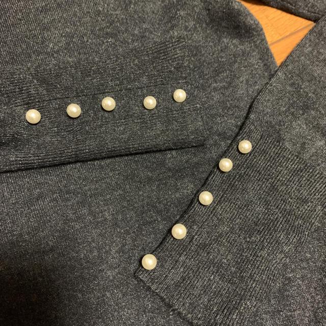 ZARA(ザラ)のZARAパール付きニット レディースのトップス(ニット/セーター)の商品写真